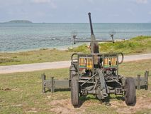 Anti aircraft  gun Royalty Free Stock Image