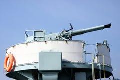 Anti aircraft gun. Anti aircraft artillery gun against blue sky Royalty Free Stock Photography