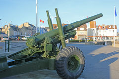 Anti-aircraft gun, Arromanches, France Stock Image