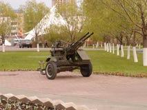 Anti-aircraft gun Stock Image
