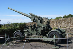 Anti-aircraft gun, Dover Castle in England Royalty Free Stock Images