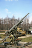 Anti-aircraft gun Stock Photo
