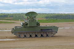 Anti-aircraft gun-missile system Tunguska Stock Photos