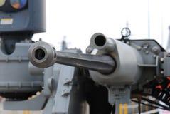 Anti Aircraft Gun. A photo taken on a ground based anti aircraft gun royalty free stock photo