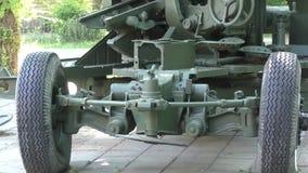 Anti-aircraft gun stock footage