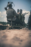 Anti-aircraft gun Stock Images