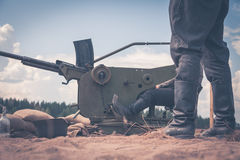 Anti-aircraft gun Royalty Free Stock Photo