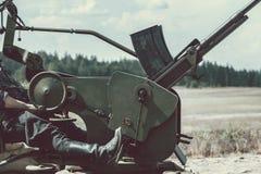 Anti-aircraft gun Royalty Free Stock Images