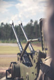 Anti-aircraft gun Royalty Free Stock Photography