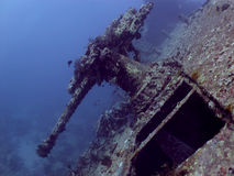 Anti-Aircraft gun from SS Thistlegorm wreck Royalty Free Stock Photography