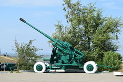 Anti-aircraft guns. Museum of weapons Stock Photo