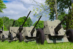 Anti-aircraft guns Stock Photography