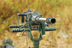 Anti-Aircraft Machine Gun Stock Photography