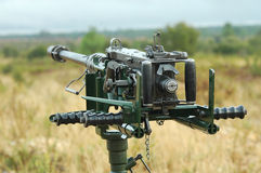 Anti-Aircraft Machine Gun Royalty Free Stock Photos