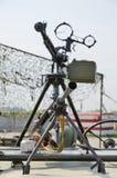 Anti-aircraft machine gun and infantry machine gun Stock Photos