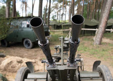 Anti aircraft machine gun Stock Image