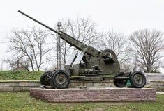 Anti-aircraft machine gun, war industry Stock Photo