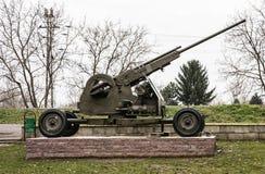 Anti-aircraft machine gun, weapons theme Stock Photos