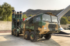 Anti-aircraft missile. China's advanced air defense missile system, using vertical launch, code hq9, international code fd2000.this photo is taken by hdr stock image