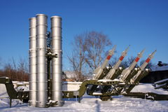 Anti-aircraft missile complex. In the museum city of Perm Stock Photos