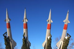 Anti-aircraft missile complex. In the museum city of Perm Stock Images
