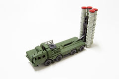 Anti aircraft missile model toy Stock Images