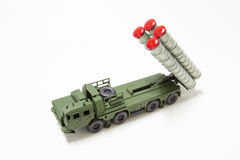 Anti aircraft missile model toy Stock Photo