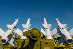 Anti-aircraft missile system S-125. Aimed at the sky Royalty Free Stock Photos