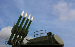 Anti-aircraft missile system Stock Images