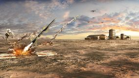 Anti aircraft missiles Royalty Free Stock Image
