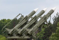 Anti-aircraft missiles system Stock Images
