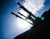 Anti Aircraft Turret Defense Guns Royalty Free Stock Images