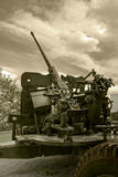 Anti-aircraft war machine Royalty Free Stock Photo
