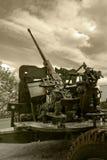 Anti-aircraft war machine. Close view of flak - anti-aircraft war machine Royalty Free Stock Photo