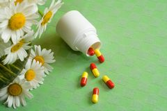Anti allergy pills Stock Photos