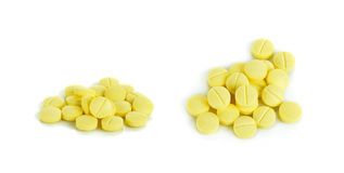 Anti allergy pills isolated on the white background Stock Images