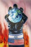 Anti american propaganda mural on tehran street iran royalty free stock image