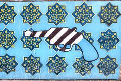Anti-Amerika-Propaganda in Teheran, der Iran lizenzfreies stockfoto