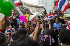 Anti-amnesty bill protest in Bangkok. November 29th, 2013, Bangkok, Thailand. Anti-government protest gathers to march to Embassy of the United States to deliver Royalty Free Stock Images