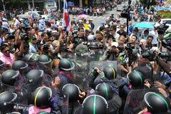 Anti-Amnesty Bill Rally in Bangkok Stock Photography