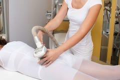 Anti-anti-cellulite massage royalty-vrije stock foto