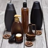 Anti-anti-celluliteschoonheidsmiddelen die op cafeïne worden gebaseerd stock afbeelding