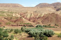 Anti-Atlas Mountains landscape Stock Photo