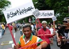 Anti attivisti della droga Immagini Stock Libere da Diritti
