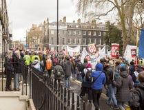 Anti-austérité mars Photographie stock