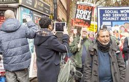 Anti-austérité mars Image stock