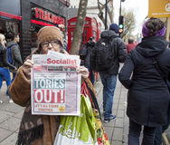 Anti-austérité mars Images stock