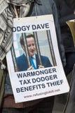 Anti-austérité mars Photo libre de droits