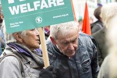Anti-austeridad marzo Fotografía de archivo