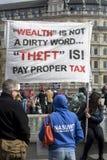 Anti-austeridad marzo Imagen de archivo libre de regalías